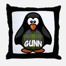 Gunn Tartan Penguin Throw Pillow