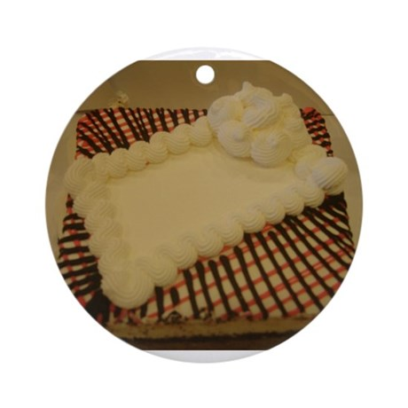 yummy cake Ornament (Round)