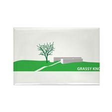 Grassy Knoll Rectangle Magnet