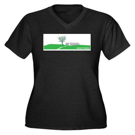 Grassy Knoll Women's Plus Size V-Neck Dark T-Shirt