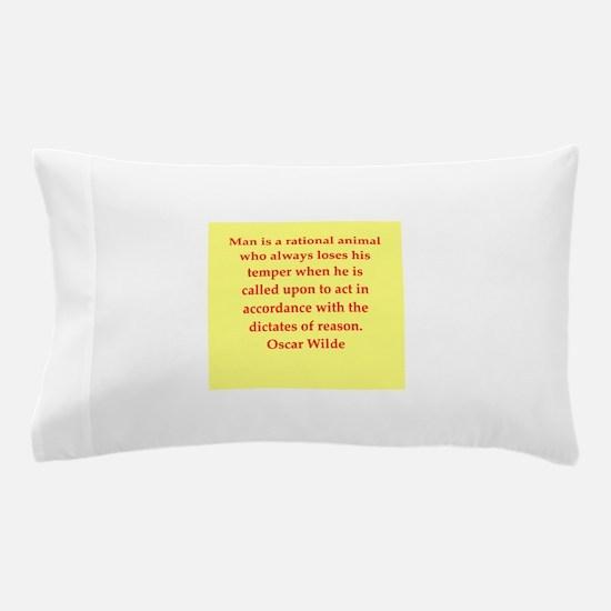 oscar wilde quote Pillow Case