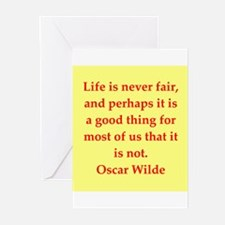 oscar wilde quote Greeting Cards (Pk of 20)