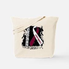 Grunge Throat Cancer Tote Bag