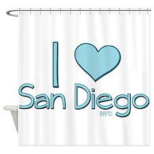 I heart San Diego Shower Curtain