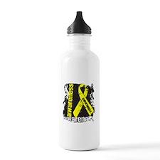 Grunge Testicular Cancer Water Bottle