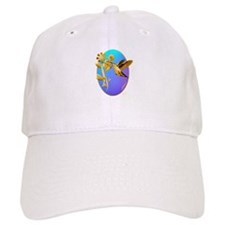 Gold Hummingbird Oval Baseball Cap