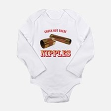 Nipples Long Sleeve Infant Bodysuit