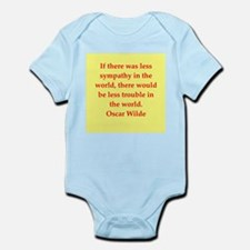 oscar wilde quote Infant Bodysuit