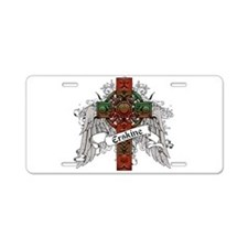 Erskine Tartan Cross Aluminum License Plate
