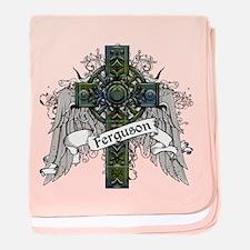 Ferguson Tartan Cross baby blanket