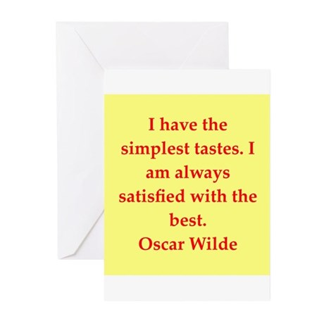 oscar wilde quote Greeting Cards (Pk of 10)