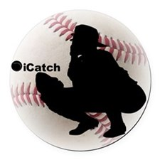 iCatch Baseball Round Car Magnet