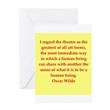 oscar wilde quote Greeting Card