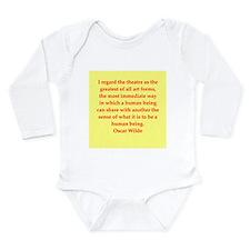 oscar wilde quote Long Sleeve Infant Bodysuit