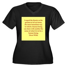oscar wilde quote Women's Plus Size V-Neck Dark T-