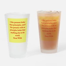 oscar wilde quote Drinking Glass
