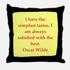 oscar wilde quote Throw Pillow
