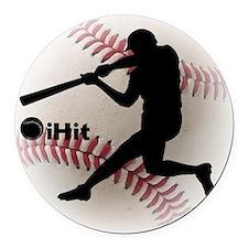 Baseball iHit Round Car Magnet