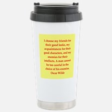 oscar wilde quote Travel Mug