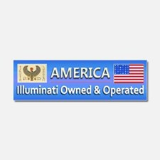 Illuminati Owned and Operated - Car Magnet 10 x 3