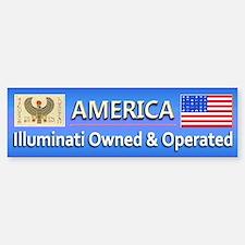 Illuminati Owned and Operated - Bumper Bumper Sticker