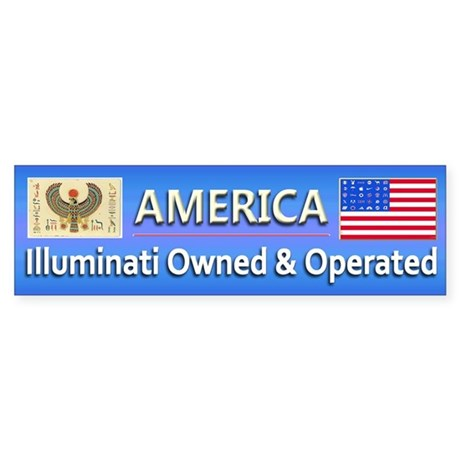 Illuminati Owned and Operated - Sticker (Bumper)