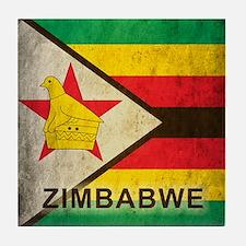 Vintage Zimbabwe Tile Coaster