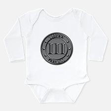 Three Percent Silver Long Sleeve Infant Bodysuit
