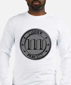 Three Percent Silver Long Sleeve T-Shirt
