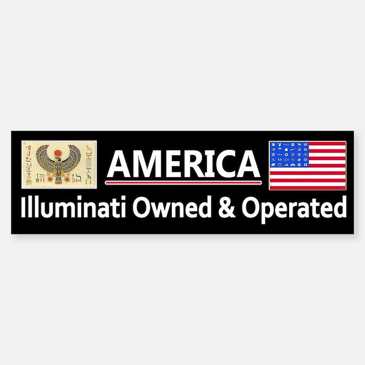 America is Owned Sticker (Bumper)