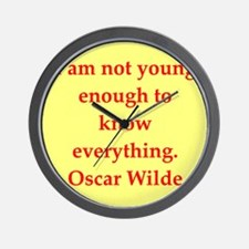 oscar wilde quote Wall Clock