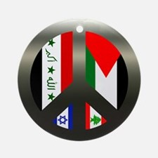 Peace in the Middle East Ornament (Round)
