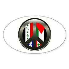 Peace in the Middle East Oval Decal