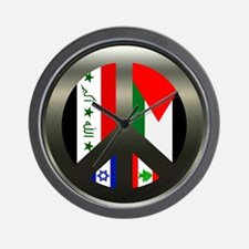 Peace in the Middle East Wall Clock