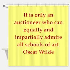 oscar wilde quote Shower Curtain