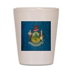 Vintage Maine Flag Shot Glass