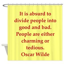 wilde37.png Shower Curtain
