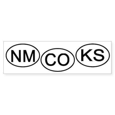 mini-Bumper tag NM CO KS Sticker (Bumper)