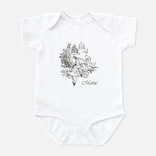 Maine Nubble Lighthouse Infant Bodysuit