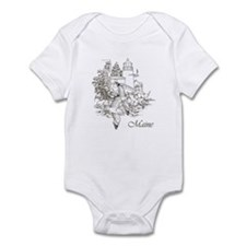 Maine Nubble Lighthouse Onesie