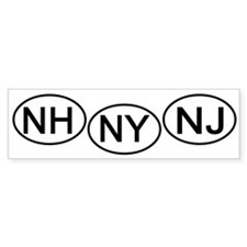 mini-Bumper tag NH NY NJ Bumper Sticker