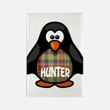 Hunter Tartan Penguin Rectangle Magnet
