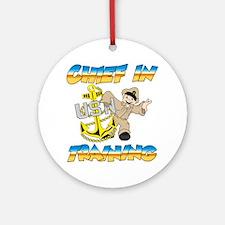 Navy Chief in Training little boy Ornament (Round)