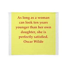 oscar wilde quote Throw Blanket