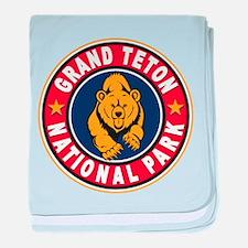 Grand Teton Red Circle baby blanket