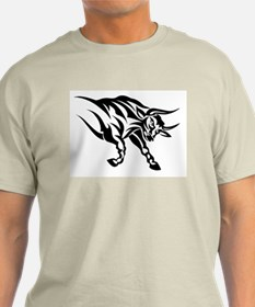 Tribal Taurus Ash Grey T-Shirt