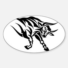 Tribal Taurus Oval Decal