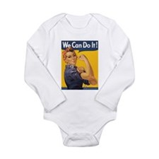 We Can Do It Long Sleeve Infant Bodysuit