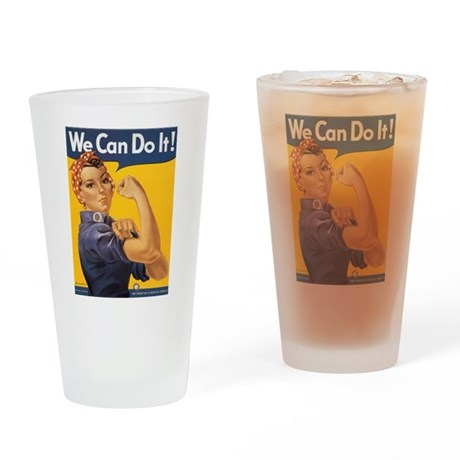 We Can Do It Drinking Glass