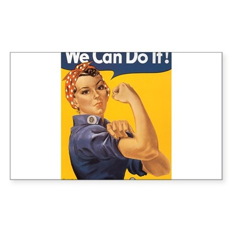 We Can Do It Sticker (Rectangle)